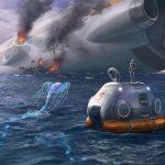 Subnautica crashed ship art