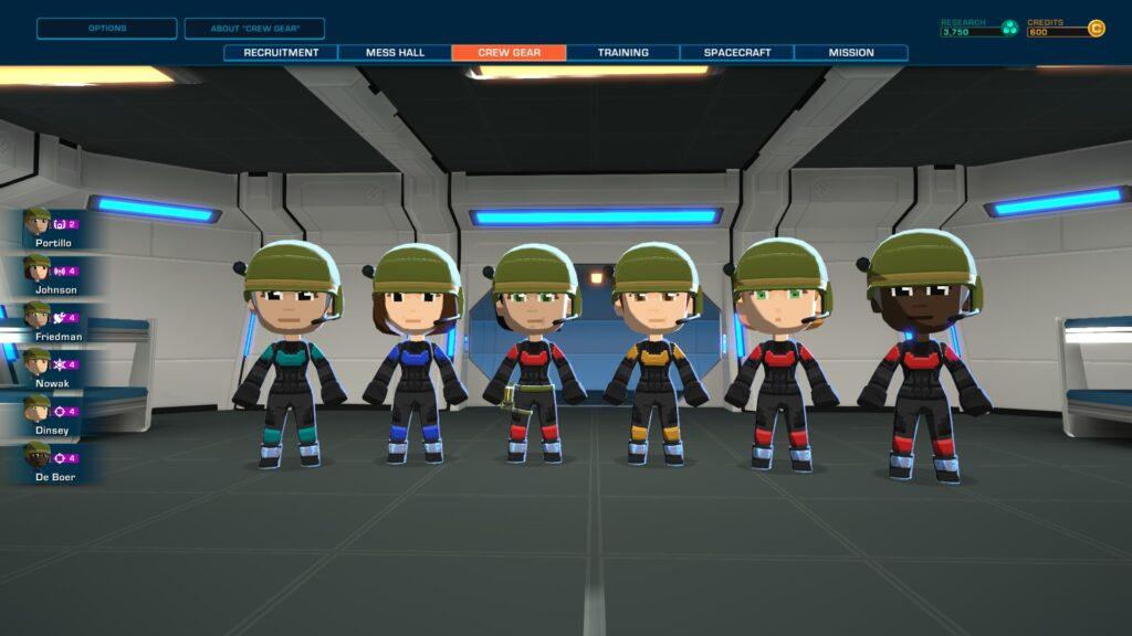 The crew of the HMS Curiosity